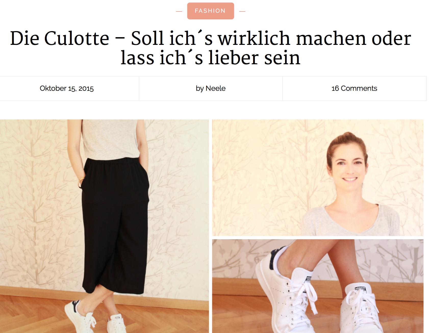 Jahresrückblick 2015 just a few things Die Culotte