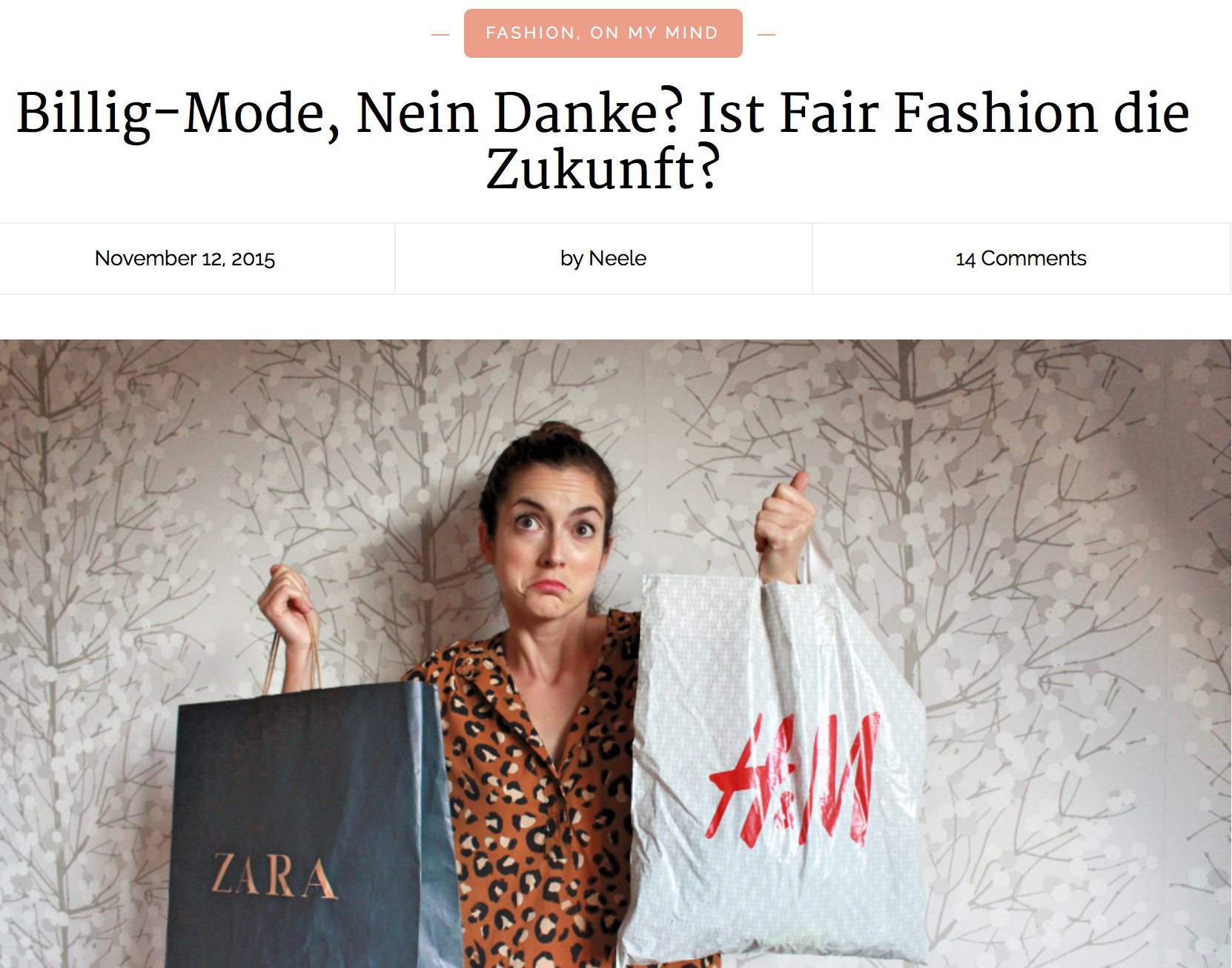 Jahresrückblick 2015 Just a few things Billig Mode Nein Danke