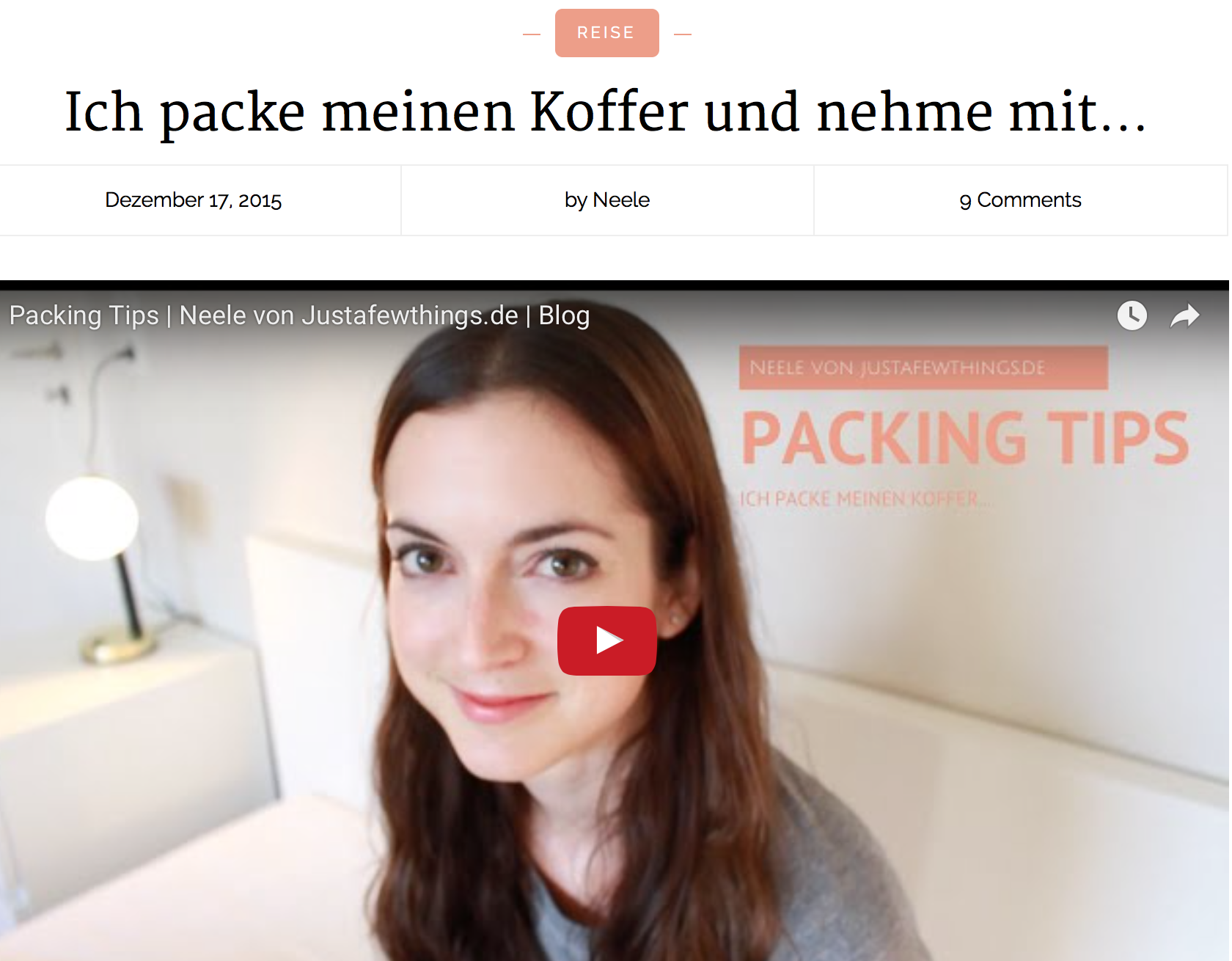 Jahresrückblick 2015 just a few things Ich packe meinen Koffer