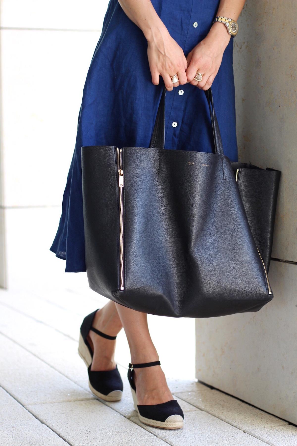 Mein neues Midikleid von Zara mit Cut Outs im heutigen Outfitpost auf meinem Modeblog kombiniert mit Céline Cabas Bag