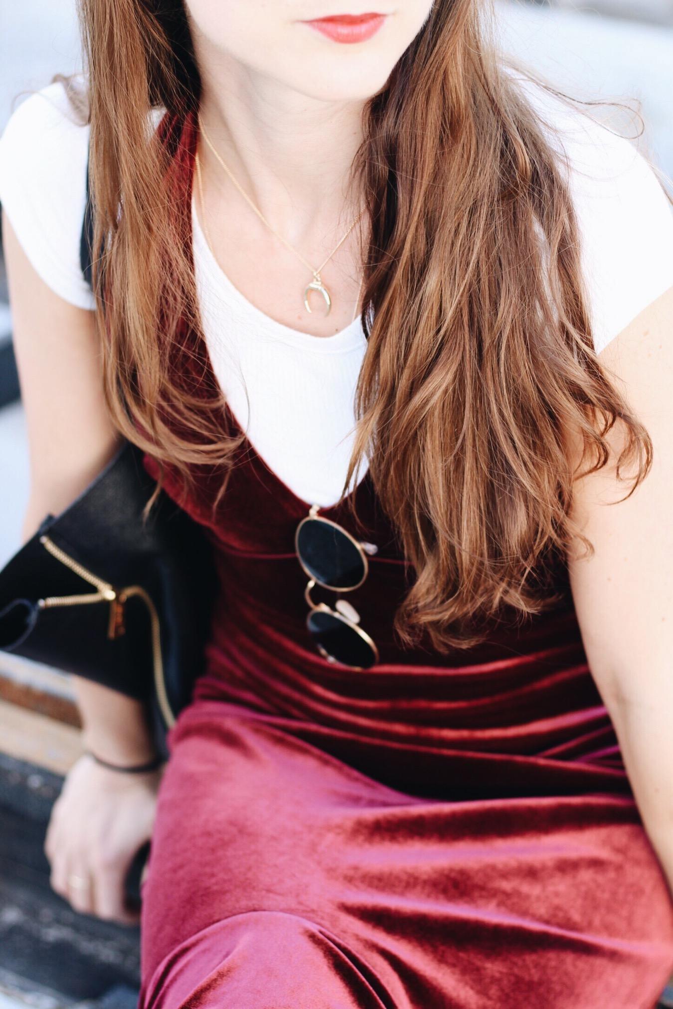 Samtkleid Trend auf meinem Modeblog