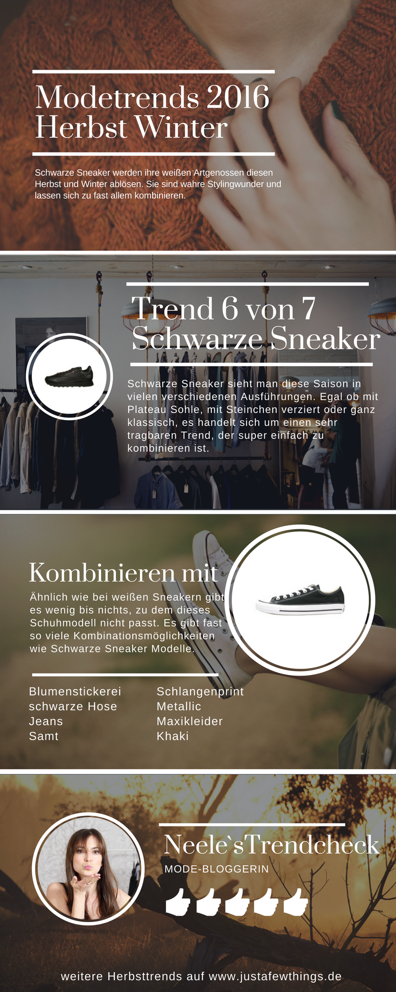 schwarze sneaker modetrends herbst winter 2016 just a few things der modeblog aus freiburg. Black Bedroom Furniture Sets. Home Design Ideas